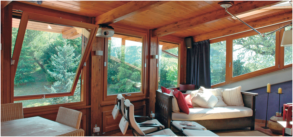 Case con vetrate interne porte linea riflessi with case - Oscurare vetri casa ...
